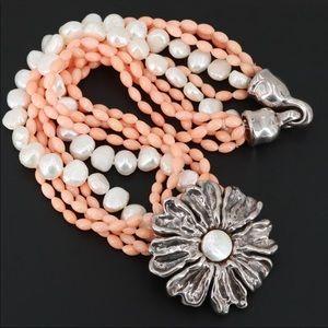Simon Sebbag Jewelry - ⭐️HP⭐️ Simon Sebbag Coral And Pearl / CODE: WN-126